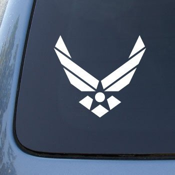 Window Us Force Air - Air Force USAF US Wings - Car, Truck, Notebook, Vinyl Decal Sticker #2646 | Vinyl Color: White