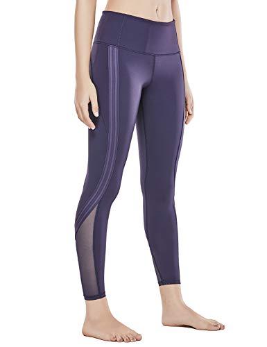 CRZ YOGA Women's Naked Feeling High Waist 7/8 Tight Side Stripe Yoga Workout Leggings - 24