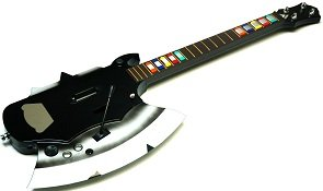 Rock Zero Axe Wii, PS3, PS2, PC Universal Wireless Guitar for Guitar Hero and Rock Band Games