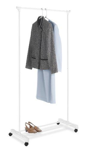 Whitmor Rolling Garment Rack White
