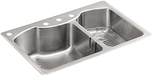 K 3844 4 NA Top Mount Double Bowl Kitchen Stainless