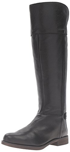 Franco Sarto Women's Christine Equestrian Riding Boot, Black, 7.5 M US (Leather Boots Women Sarto Franco)