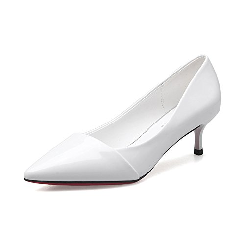 Shoes White Single New High Heeled Shoes Heels High Work Jqdyl Pointed Bridesmaid heels Female Shoes High 6cm Shoes Spring TB6q0Hwx