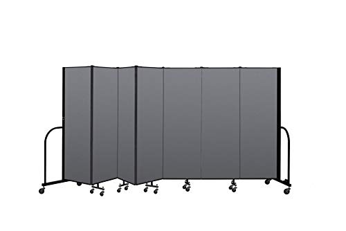 (Screenflex Commercial Portable Room Divider (CFSL607-DG) 6 Feet High by 13 Feet 1 Inches Long, Designer Stone Fabric)