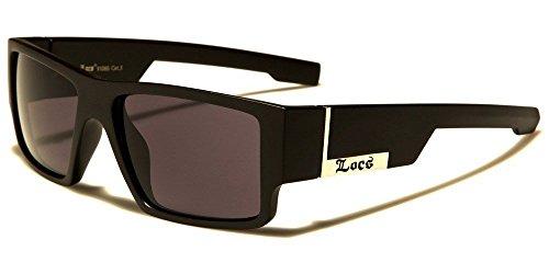 Matte Black Rectangular Gangster Black Shades Mens Designer - American Gangster Sunglasses