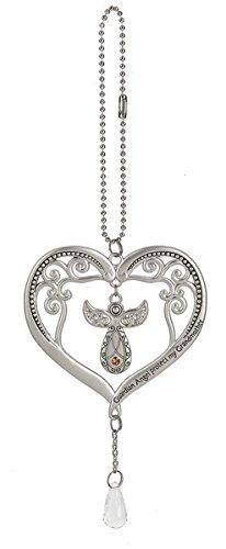 Heart Charm Car - Ganz Heart Angel Crystal Car Charm Sun Catcher Prism Ornament Guardian Angel Protect My Grandmother
