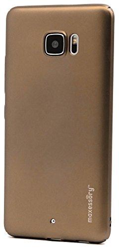 HTC U Ultra Case, U Ultra Case, Maxessory [Operative] Ultra-Thin Full-Body Lightweight Impact Slim Hard-Back Protective Premium Drop-Proof Plain Shell Cover Rose Gold For HTC U Ultra (Hardback Case Cover Rubberized)