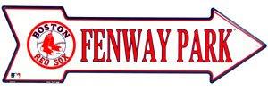 Fenway Park Red Sox Arrow Metal Sign