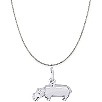 18 or 20 inch Rope Box or Curb Chain Necklace Rembrandt Charms Two-Tone Sterling Silver Open Heart Charm on a Sterling Silver 16