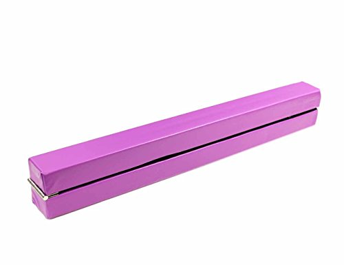 Pink, 8 Feet Gymnastics 7ft and 8ft Folding Balance Beam Faux Leather 2.1m and 2.4m Home Gym Training Exercise Sports