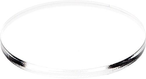 Plymor Brand Clear Acrylic Round Standard-Edge Display Base.375