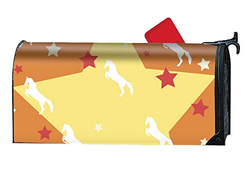 MALBX Horse Silhouette Custom Magnetic PVC Mailbox Cover - Mailbox Makeover