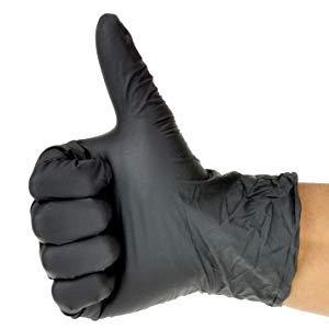 Black Nitrile Medical Grade Exam Gloves