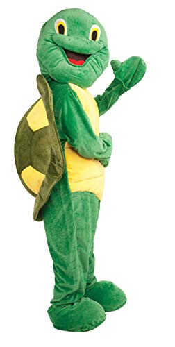 Forum Deluxe Plush Turtle Mascot Costume, Green, One Size