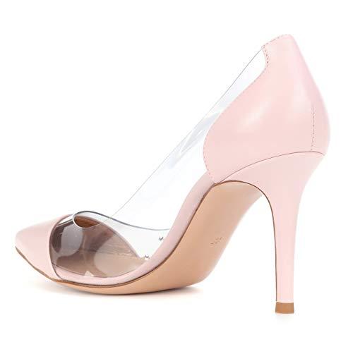 Aiguille Talons Chaussures 85MM Talon Talon uBeauty Transparent Taille Chaussures Stilettos Escarpins Haut Femme Rose Grande PVC Chaussures Femmes U7xUqSBwnX