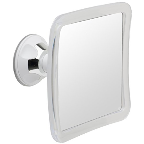 Fogless Suction Cup Mirror - Mirrorvana Fogless Shower Mirror for Shaving with Lock Suction-Cup, 6.3 x 6.3 Inch