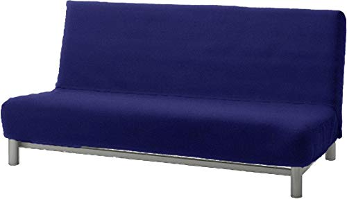 The Flax Polyester Beddinge Lovas Sofa Bed Cover Replacement is Custom Made for IKEA Beddinge Sleeper, A Quality Futon Slipcover Replacement (Blue)