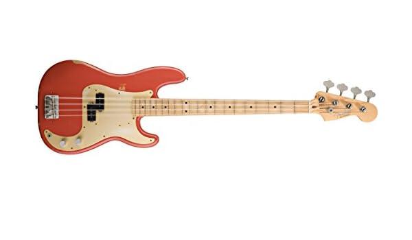 Fender 0131712340 hoja de llevar 50s Precision Bass arce diapasón guitarra eléctrica - fiesta rojo: Amazon.es: Instrumentos musicales
