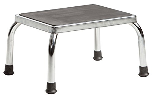 Secure Heavy Duty Footstool with Non Skid Rubber Platform, Chrome (Fully Assembled) price