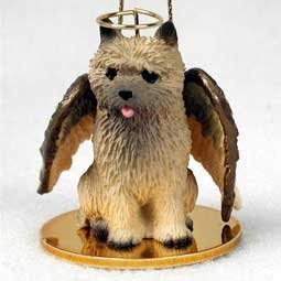 Cairn Terrier Angel Dog Ornament - Red by Conversation Concepts