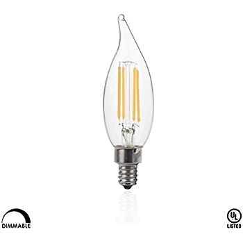 hudson lighting dimmable flame tip candelabra led bulbs ul listed 2 year warranty 4 watt. Black Bedroom Furniture Sets. Home Design Ideas
