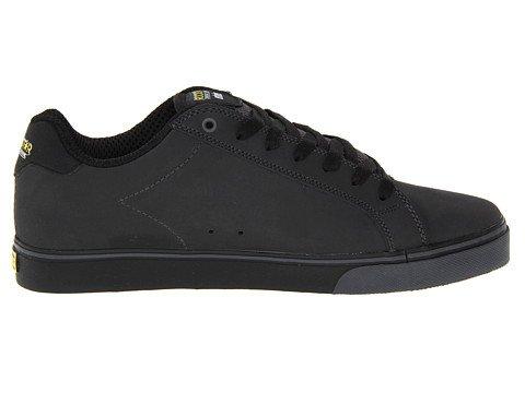 aecab7f68a727 Etnies Rockstar Cartel Mid Black Grey Yellow Leather Mens Skate ...