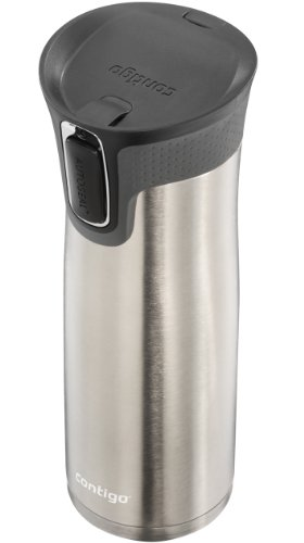 Contigo AUTOSEAL West picture Stainless stainlesss steel journey Mug having Open access top 24oz Commuter journey Mugs