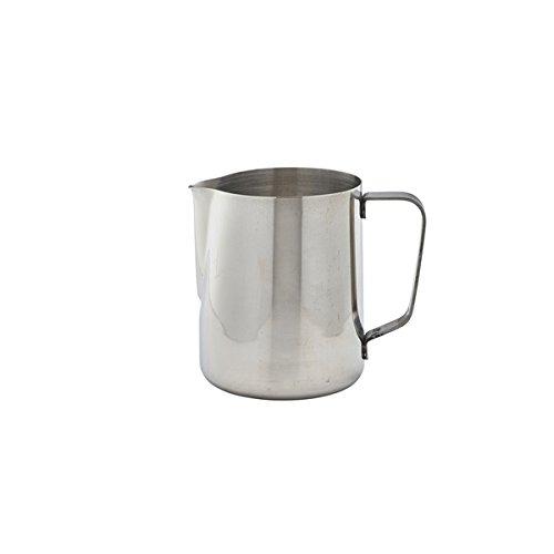 Frothing Jug 32oz / 900ml | Stainless Steel Frothing Jug by Genware, Coffee Milk Jug, Cappuccino Milk Jug, Cappuccino Frothing Jug by Genware