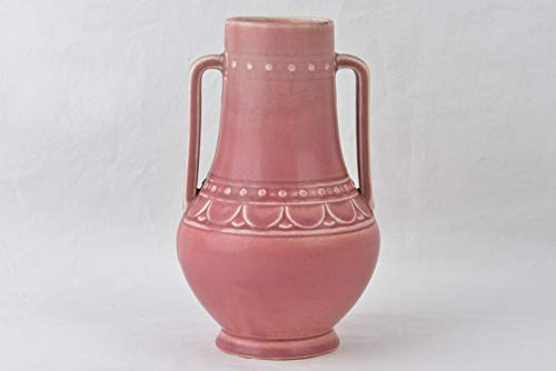 Rookwood Pottery 1928 Mat Rose Pink 2 Handle Arts and Crafts Urn Vase #2674