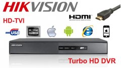 Hikvision DS-7216HGHI-SH 16 Channel Tribrid DVR, Turbo HD/Analog, Auto-Detect, 720P, Real Time/1080P. VGA and HDMI Output, Alarm I/0, 1 Channel Audio