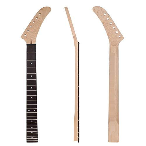 22 Frets Banana Maple Guitar Neck Rosewood Fingerboard White Dot Inlay for ST Strat Guitar Replacement Guitar Parts