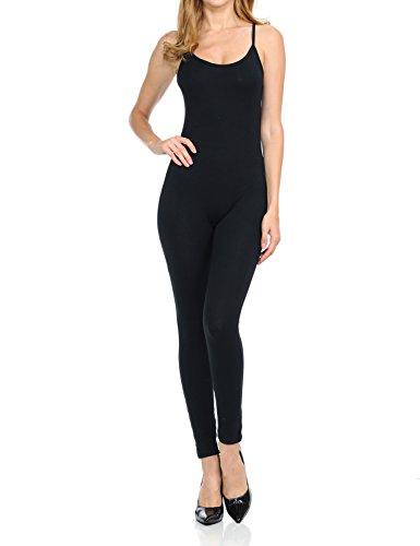 Ladybug Women Catsuit Cotton Lycra Tank Spaghetti Strapped Yoga Bodysuit Jumpsuit, one Piece Footed Jumpsuit