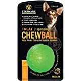 3 PACK TREAT DISPENSING CHEW BALL, Color: GREEN; Size: MEDIUM (Catalog Category: Dog:TOYS), My Pet Supplies