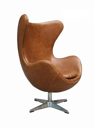Ledersessel Design egg retro ledersessel aberdeen chair clubsessel leder sessel