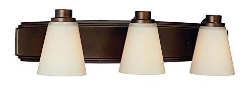 Heirloom Cone - Dolan Designs 3403-62 3Lt Bath Heirloom Bronze Southport 3 Light Bathroom Fixture (Renewed)