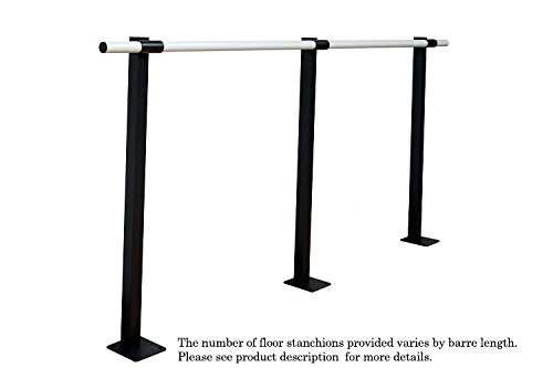 (Vita Vibe - SHS480 Professional Aluminum Single Barre Fixed Height Floor Mount Ballet Barre - Stretch/Dance Bar - USA Made (40 FT))