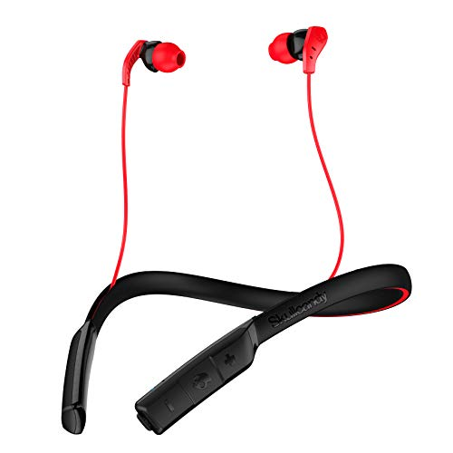 Skullcandy Method Bluetooth Wireless Sweat-Resistant Sport Earbuds with Microphone, Secure Around-The-Neck Collar, 9-Hour Rechargeable Battery, Perfect for Working Out, Black/Swirl