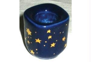 AzureGreen CH40BS Cobalt Ceramic Starry Chime Holder