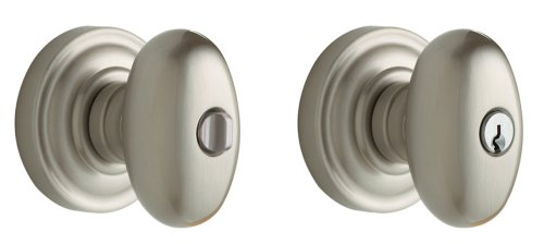 Baldwin Estate 5225.150.ENTR Keyed Entry Egg Knob in Satin (Baldwin Egg)
