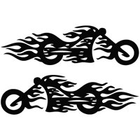 Motorcycle Flame Mirror Wall Size Tribal Decal Vinyl Decor - Decal graphics for motorcyclestribal motorcycle graphics tribal motorcycle decals motorcycle