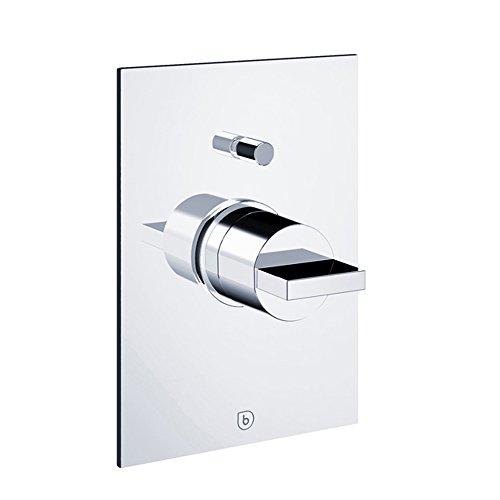 Blu Bathworks TSU821 Opus Pressure Balancing Mixer with Positive Shut-Off Diverter, Polished Chrome Finish ()