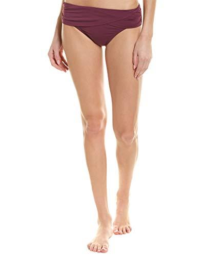 Bleu Rod Beattie Women's Kore Banded Hipster Bikini Bottom Cherry Wine 10