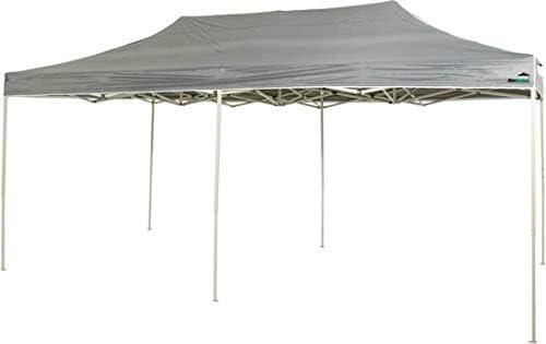 MaxxGarden - Cenador Impermeable de 3 x 4 m, Incluye Bolsa, protección UV 50+, Plegable, para jardín, con Paredes Laterales, Color Antracita: Amazon.es: Jardín