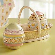 Lenox Easter Egg Salt and Pepper with Basket
