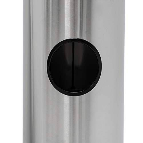 Germisept Stainless Steel Wipes Dispenser with High Capacity Built-in Trash Can and Back Door Access, with Sign Board by GERMISEPT (Image #3)