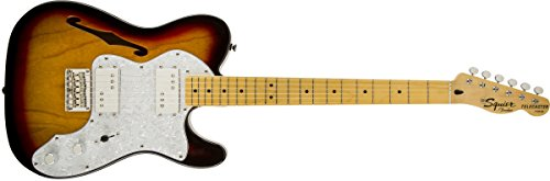 Colour Sunburst Electric Guitar (Squier by Fender Vintage Modified '72 Telecaster Electric Guitar Thinline - 3-Color Sunburst - Maple Fingerboard)
