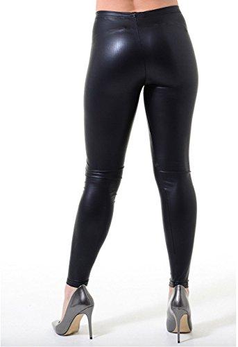 Women Leather For Jegging New Faux Leggings Black lucidi Look 14 8 Wetlook Wet Femme Taglia EwqTgHqW