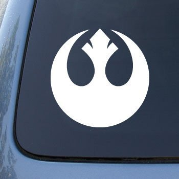 (REBEL ALLIANCE - Vinyl Decal Sticker #A1463 | Vinyl Color: White)
