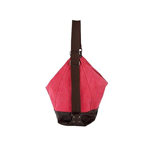Main Femmes Bandoulière Toile ZongSen Filles en Sac Loisir pour Sac Vintage Rouge D'épaule à Sac twwTqpa
