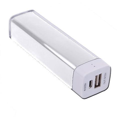 Bateria Externa Apokin 2.600 mAh Blanco: Amazon.es: Electrónica